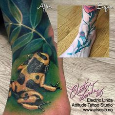 Foot Coverup -Part of the Animal leg sleeve - in progress  Booking: tattoo@atsoslo.no(47)22201313  Facebook: attitudetattoostudio Snapchat: attitudetattoos  Please Follow: @attitudetattoostudio  I use: @intenzetattooink @cheyennetattooequipment  @eternalink @stencilstuff…