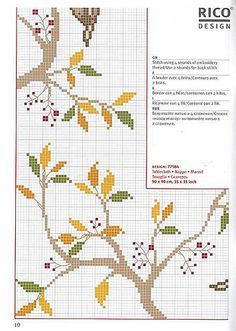 38810694 by marillacita00, via Flickr Cross Stitch Bird, Beaded Cross Stitch, Cross Stitch Borders, Cross Stitch Flowers, Cross Stitching, Cross Stitch Patterns, Filet Crochet Charts, Flower Branch, Needlework