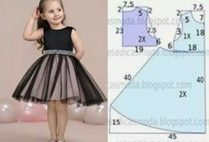 Vestido infantil com molde para corte e costura: 30 modelos incríveis para voc. Frocks For Girls, Kids Frocks, Girls Party Dress, Little Girl Dresses, Girls Dresses, Flower Girl Dresses, Dresses Dresses, Party Dresses, Blue Dresses
