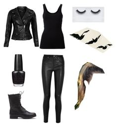 """Tris Prior Dauntless Outfit"" by short-gurl on Polyvore featuring Theory, Helmut Lang, VIPARO, Georgie Beauty and OPI"