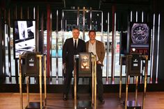 #raptor2 display cases and Ricardo Guadalupe at the beautiful #Harrods Popup store #Hublot #London