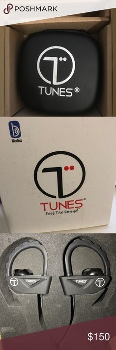 Tunes Bluetooth Wireless Headphones These headphones are wireless bluetooth headphones. Brand New. They come with a pouch to put the headphones in. It also comes with a charger for the headphones and different size buds from small ones to big ones. I am giving away because I have another one. Message me for any questions or concerns. tunes Other