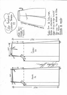 FREE PATTERN ALERT: Pants and Skirts Sewing Tutorials - On the Cutting Floor: Printable pdf sewing patterns and tutorials for women Shirt Dress Pattern, Pants Pattern, Sewing Pants, Sewing Clothes, Sewing Coat, Dress Sewing Patterns, Clothing Patterns, Skirt Patterns, Coat Patterns