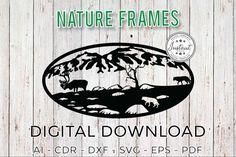 Nature Frames Wild Nature Laser cut Laser cut patterns   Etsy Cnc Router Plans, Woodworking Plans, Laser Cut Patterns, Laser Cut Files, Cnc Plasma, Oval Frame, Wild Nature, Laser Cutting, Frames