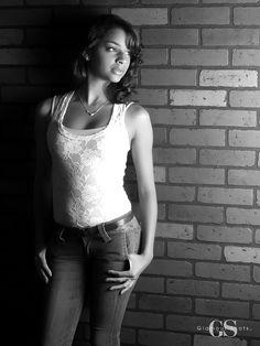 Pretty portrait in black and white! #GlamourShots