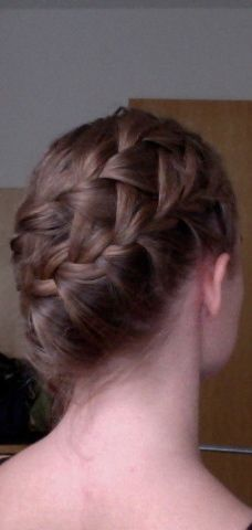 awesome double braid (first a french waterfall braid and then a french braid with the hair from the first one)