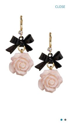 Betsy Johnson flower earrings