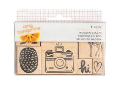 Amy Tangerine - Finders Keepers Collection - Wood Stamps - SharBearCrafts