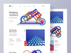 Architecture Website designed by Zuairia Zaman for Orizon: UI/UX Design Agency. Connect with them on Dribbble; Responsive Web Design, Ui Ux Design, Design Agency, Portfolio Web Design, Portfolio Website, Website Home Page, Arch Building, Branding, Landing Page Design