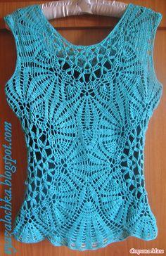 Crochet Sleeveluss Top