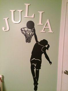 Girl basketball room