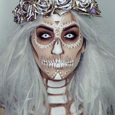 Spooky skull face @imogenhearts created this amazing look using our Neutral Eyes - 28 Color Eyeshadow Palette. Check out her page for more #HalloweenMakeup inspo #BHCosmetics #Halloween #SkullMakeup #NeutralEyes #EyeshadowPalette