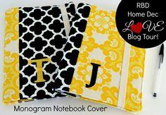 Riley Blake Designs Blog: RBD Home Dec LOVE Blog Tour: Notebook Covers #iloverileyblake #homedecfabric #blogtour