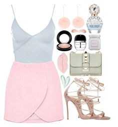 """""""Pastel colors"""" by vitoriabett ❤ liked on Polyvore featuring Topshop, Carven, Dsquared2, Valentino, Marc Jacobs, STELLA McCARTNEY, MAC Cosmetics, Koh Gen Do, Laura Mercier and NARS Cosmetics"""