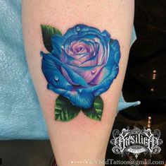 Dew Drops Rose Tattoo - Dew Drops Rose Tattoo You are in the right place about Dew Drops Rose Tattoo Tattoo Design And Styl - Colorful Rose Tattoos, Coloured Rose Tattoo, Purple Rose Tattoos, Rose Tattoos For Men, Tattoos For Guys, Tattoos For Women, Butterfly Tattoos, Flower Tattoos, Rose Drawing Tattoo