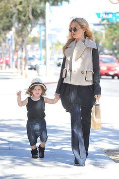 Pregnant Rachel Zoe with Skyler