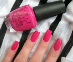 Nail Polish Colors For Fair SkinTop Fashionz Bright Pink Nails, Pink Nail Colors, Toe Nail Color, Nail Polish Colors, Opi Colors, Diy Nail Designs, Colorful Nail Designs, Fabulous Nails, Perfect Nails