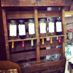 Pallet Wine Rack - Love it!