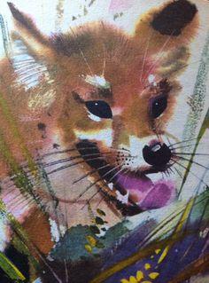.Janusz Grabianski - fox Kids Story Books, Fox Art, China Painting, Typography Prints, Book Illustration, Vintage Children, Illustrators, Watercolor, Paintings