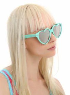 Aqua heart sunglasses