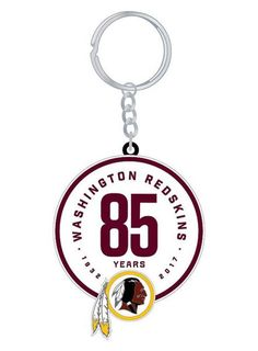 Take your Redskins pride on the go with this Redskins 85th Season Keychain!  Officially licensed 2449701d9