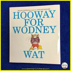 Great gifts for your SLP Grad starting their first speech therapy job! Hooway for Wodney Wat is a favorite for articulation therapy.