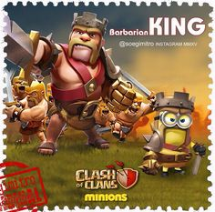 Clash of Clans  Barbarian King Minion