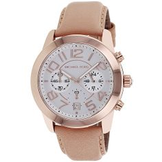 Michael Kors Ladies' Mercer Chronograph Watch in Silver and Rose Gold - Beyond the Rack