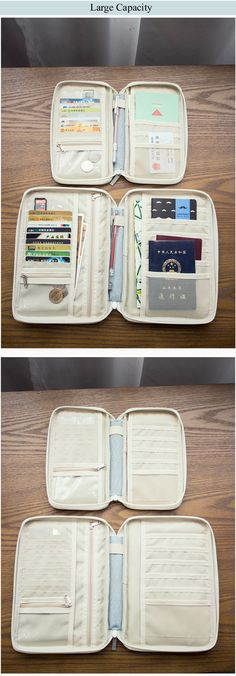 VW Bus Sun And Moon Art Passport Holder PU Leather Cover Travel Wallet ID Cards