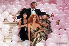 The Witches of Eastwick - Promo shot of Susan Sarandon, Jack Nicholson, Michelle Pfeiffer & Cher