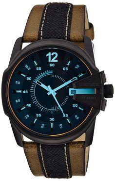 Diesel Men's DZ1600 Diesel Chief Series Analog Display Analog Quartz Brown Watch