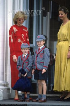 William et Harry - Wetherby school , le 11 septembre 1989