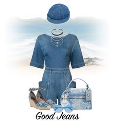 """All Denim, Head to Toe"" by flippintickledinc ❤ liked on Polyvore featuring STELLA McCARTNEY, Valentino, Béton Ciré, Marc Jacobs, Karen Walker and alldenim"
