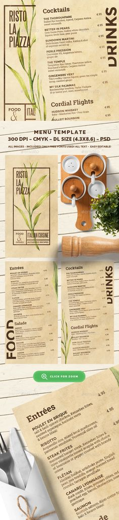 Restaurant Menu Template PSD. Download here: http://graphicriver.net/item/restaurant-menu-template/16704191?ref=ksioks