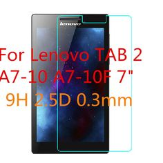 """9H 2.5D 0.3mm Explosion-Proof Toughened Tempered Glass For Lenovo TAB 2 A7-10 A7-10F 7"""" Film Clear Screen Protect Cover Guard"""