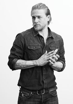 Charlie Hunnam...he is soooo dirty and greasy and I never imagined myself to be attracted to him....but have u seen Sons of Anarchy?