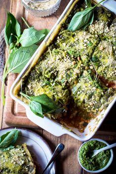 Vegan Lasagne with Lentils & Spinach Pesto