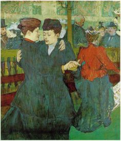 toulouse-lautrec paintings | At the Moulin Rouge: The Women Dancing, Toulouse Lautrec, 1894