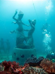 Badung Underwater Cultural Park will be an underwater attraction while also being part of coral restoration program. Pho...