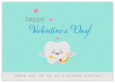 Cupid Cuspid - CardsDirect Dentist Valentine's Day Cards