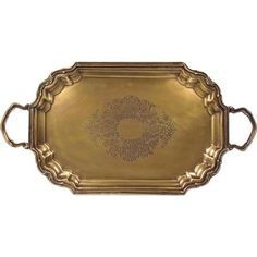 Ianthe Tray World Menagerie Finish: Antique Brass Mirror Tray, Vanity Tray, Lap Tray, Wooden Serving Trays, Coffee Table Tray, Round Tray, Metal Trays, Hazelwood Home, Antique Brass