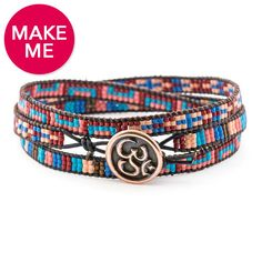 Om Trio Bracelet   #FusionBeads #Inspiration Gallery #MakeMe