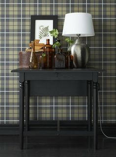 Recreate old-world charm at home Ikea Magazine, Tartan Wallpaper, Ikea Shopping, Old World Charm, Wall Treatments, Home Hacks, Home Organization, Home And Living, Beautiful Homes