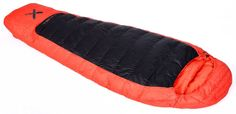 A very warm, very lightweight 3-season down sleeping bag, packable to a compact size.