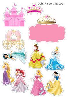 Disney Princess Crafts, Disney Princess Cupcakes, Princess Cupcake Toppers, Disney Princess Birthday, Disney Princess Pictures, Princess Theme, Birthday Cake Toppers, Princess Cakes, Princess Peach