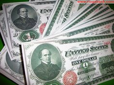 1 US Dollar 1862 Banknotes with consecutive Serial Numbers by Rioga Bank ™ REPLICA - www.riogabank.com