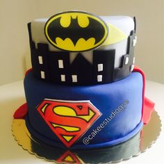 Batman vs súperman cake