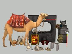 There are some lovely knick-knacks I'm sure your Egyptian Sims would like around their homes.