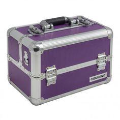 anndora Beautycase Kosmetikkoffer Lila Aluminium Make up Case - abschließbar  | Lila