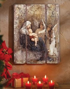 Celebrate Christmas this year with Christmas icons and decor like this Song of the Angels Wall Plaque from Monastery Icons. Christmas Icons, Christmas Door, Blue Christmas, Vintage Christmas, Christmas Crafts, Christmas Decorations, Christmas Ornaments, Christmas Angels, Catholic Art